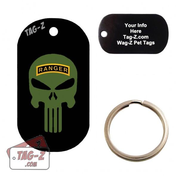 Army Ranger Evil Skull Custom ENGRAVED Pet Tag Tag-Z