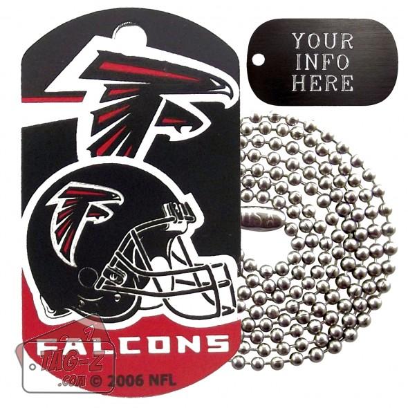 Atlanta Falcons NFL Military Dog Tag Necklace