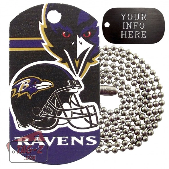 Baltimore Ravens NFL Military Dog Tag Necklace
