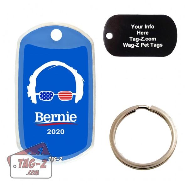 Bernie Sanders ENGRAVED Pet Tag Tag-Z