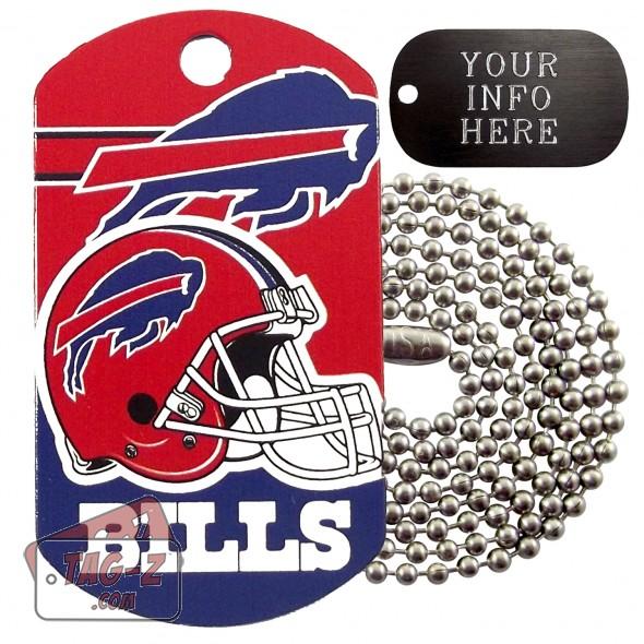 Buffalo Bills NFL Military Dog Tag Necklace