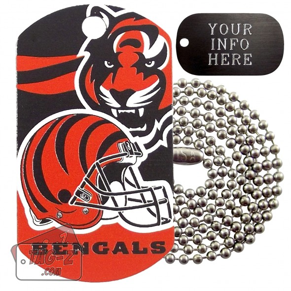 Cincinnati Bengals NFL Military Dog Tag Necklace