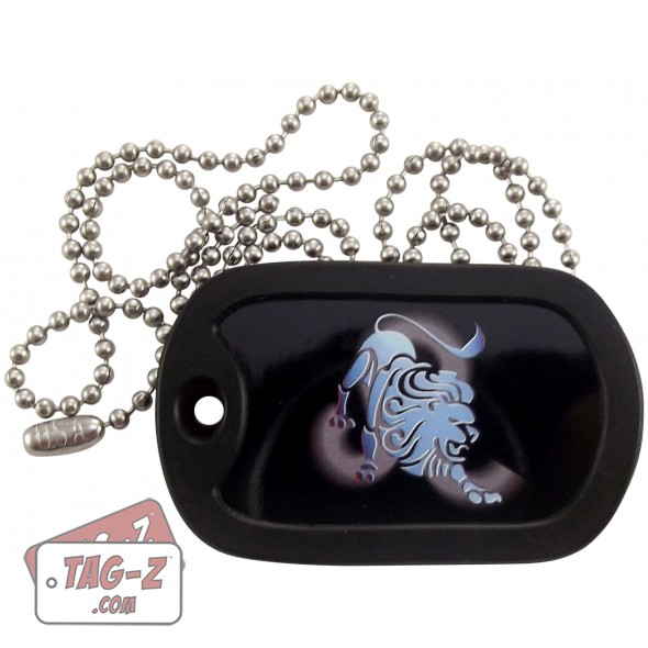 Leo Zodiac Sign Traits Dog Tag Necklace Pendant Stainless: Tag-Z Leo Dog Tag Necklace