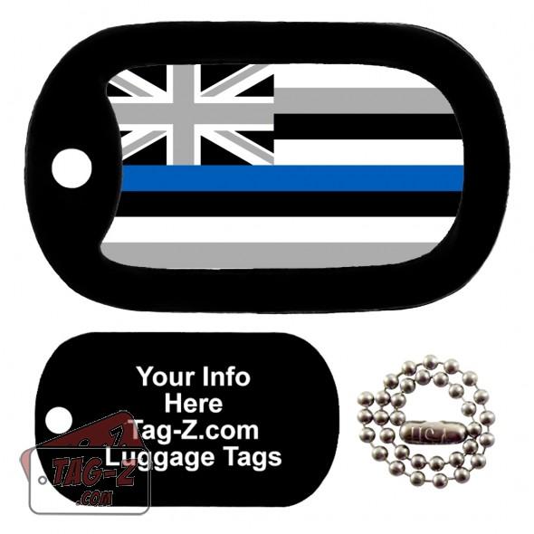 Hawaii Blue Line Flag LUGGAGE TAG Tag-Z