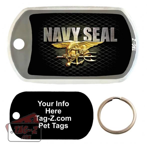 NAVY SEAL Custom ENGRAVED Pet Tag Tag-Z