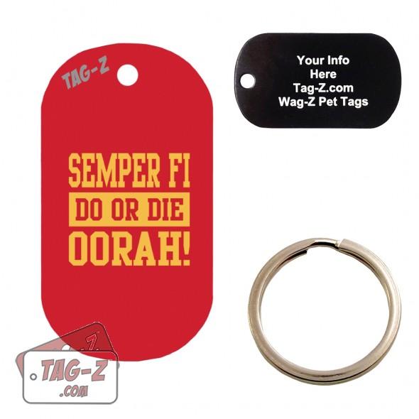 Semper Fi - Do or Die Custom ENGRAVED Pet Tag Tag-Z