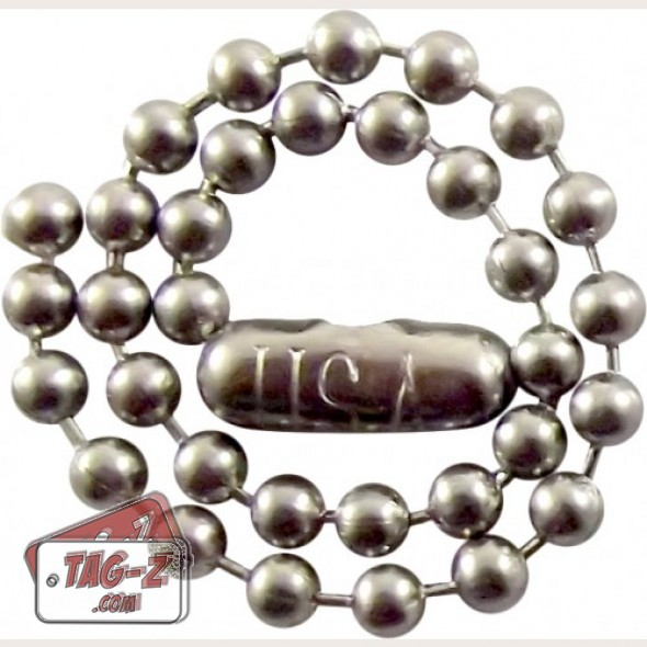 Tag-Z stainless steel ball chain key chains
