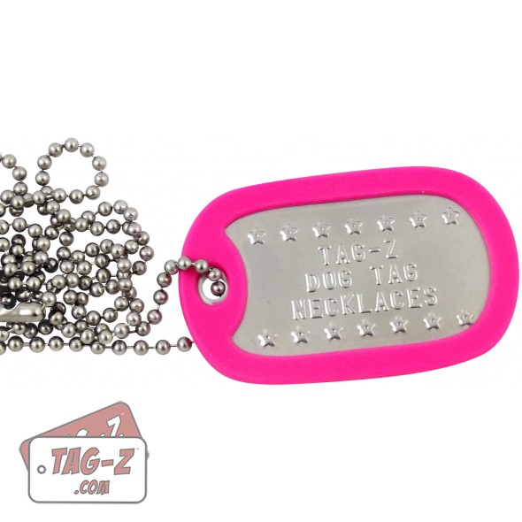 Tag-Z Custom Embossed Dog Tag Necklaces