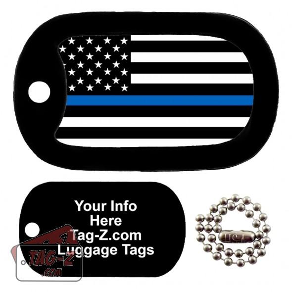 Blue Line Flag LUGGAGE TAG Tag-Z