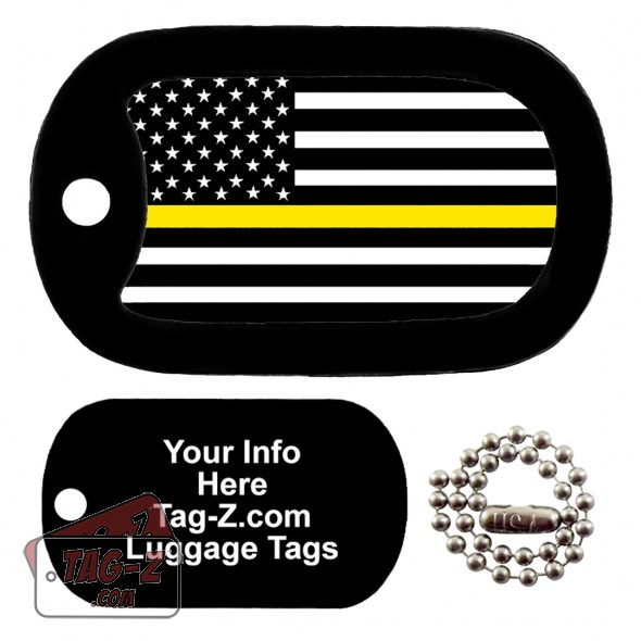 Thin Yellow Line - Security Guards LUGGAGE TAG Tag-Z