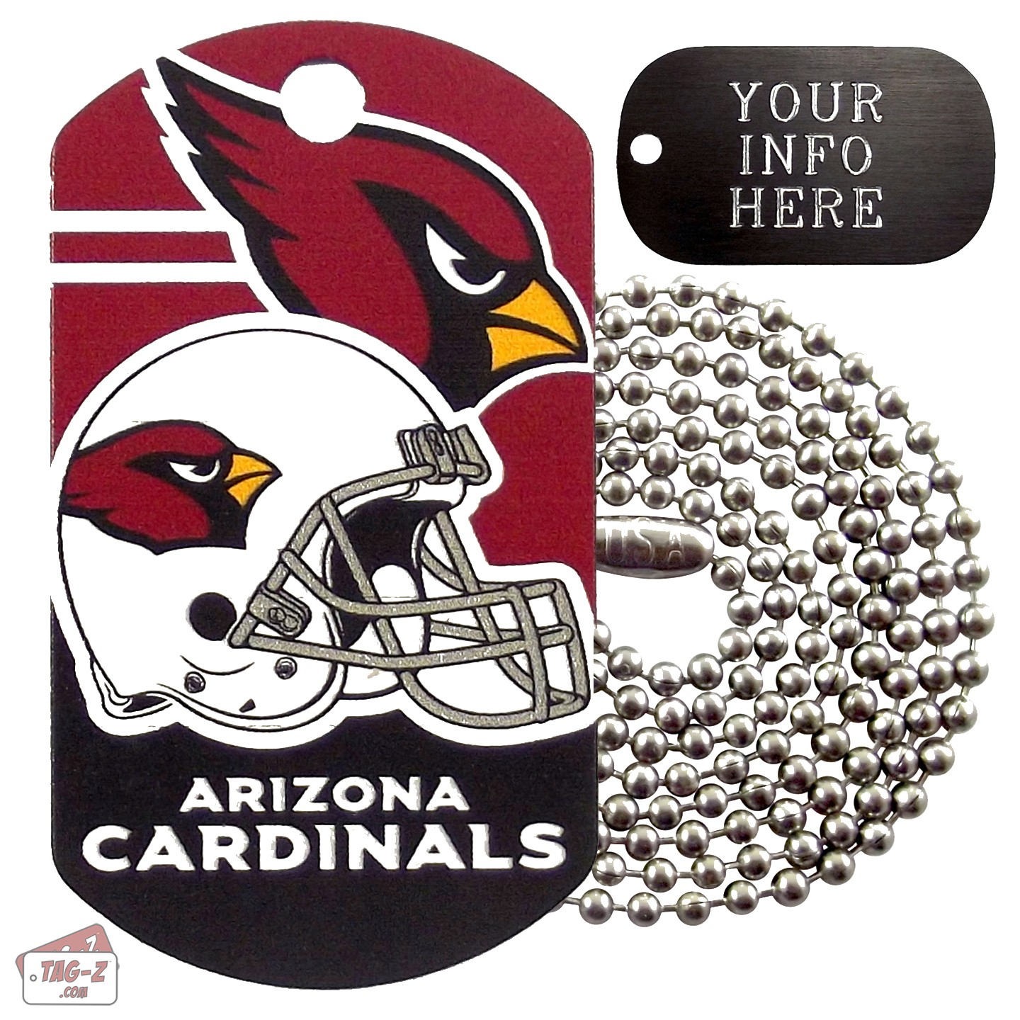 Arizona Cardinals NFL Military Dog Tag Necklace aacc03a47