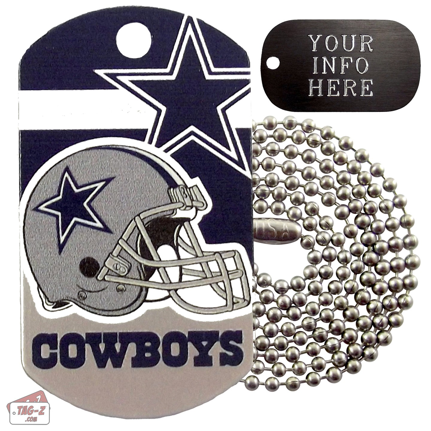 Dallas Cowboys NFL Military Dog Tag Necklace ce1c85938