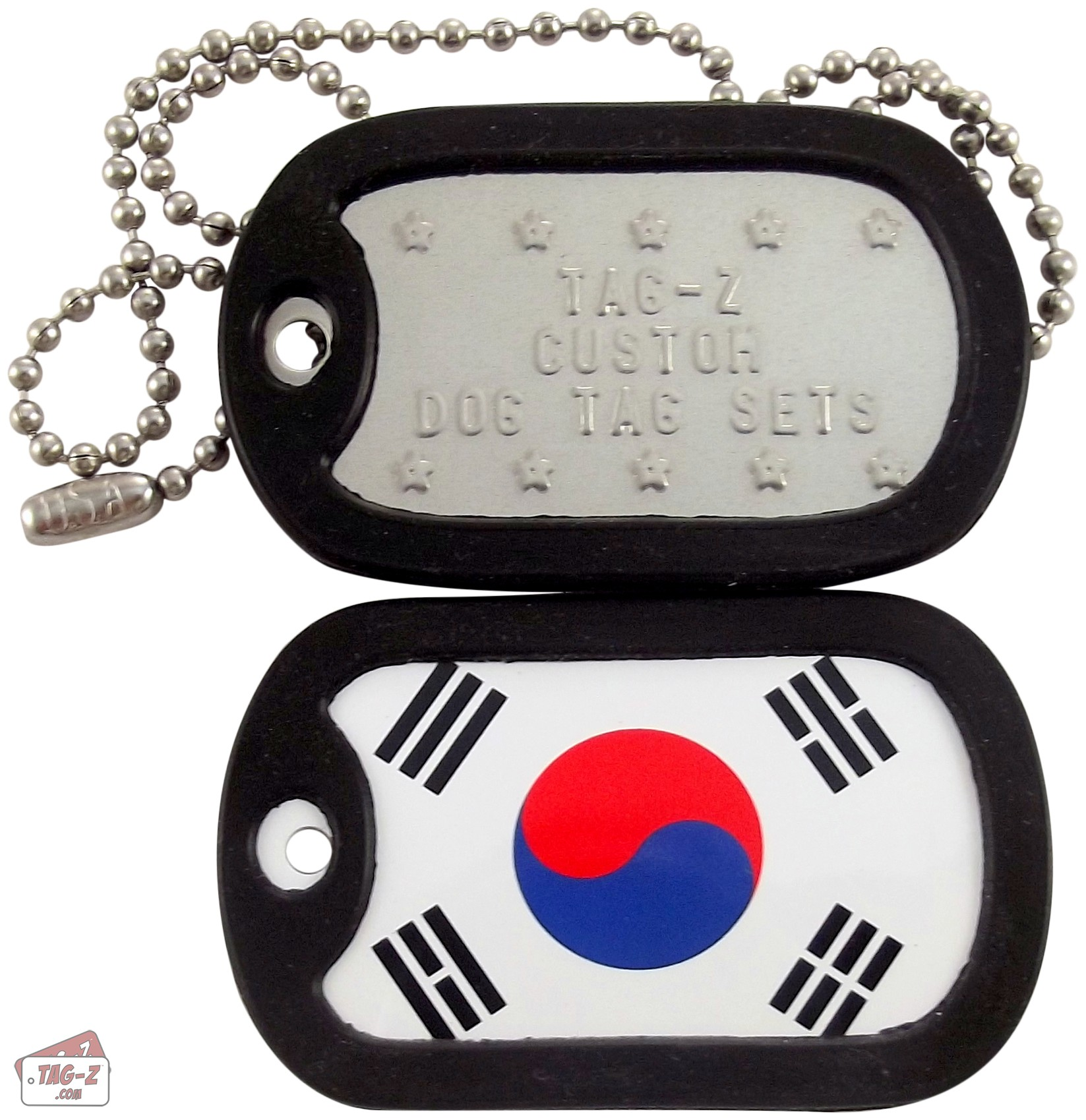 Tag-Z Korean Flag Dog Tag Set