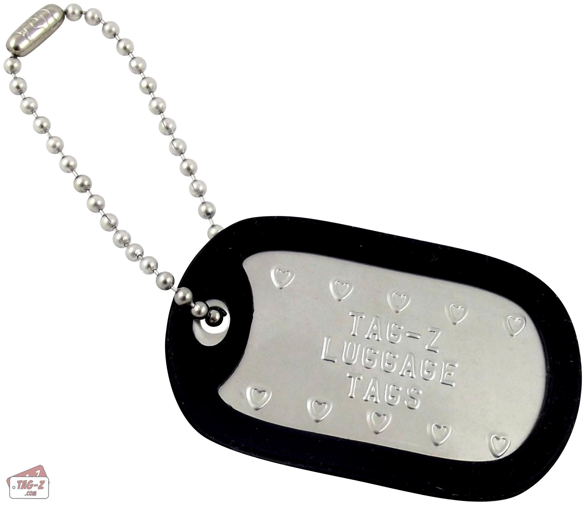 8b3039584b4d Tag-Z Customized Luggage Tags - Military Dog Tag Luggage Tags