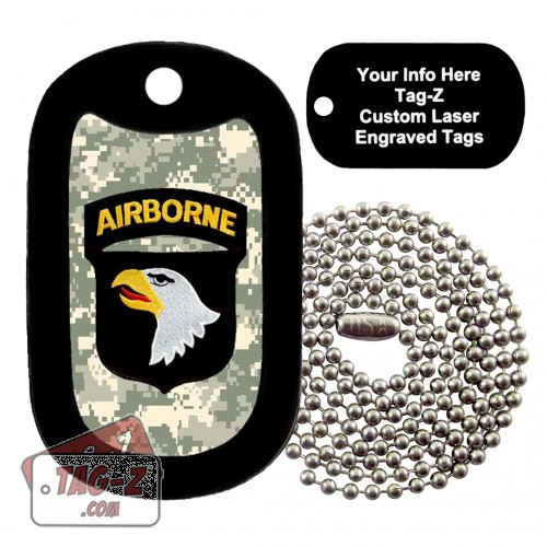 101st  Airborne Division Patch Custom ENGRAVED Necklace Tag-Z