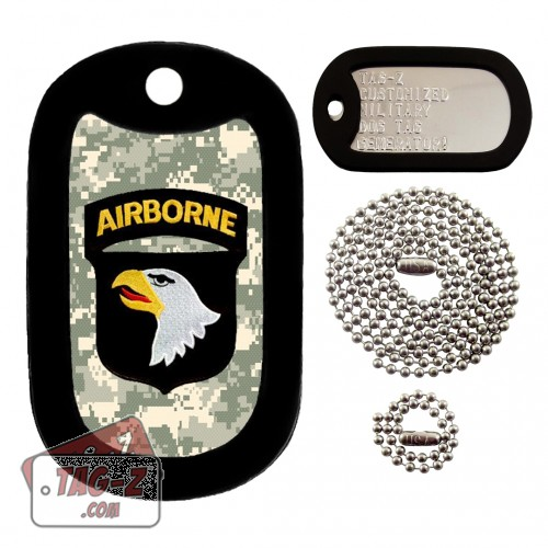 101st  Airborne Division Patch Dog Tag Full Set Tag-Z