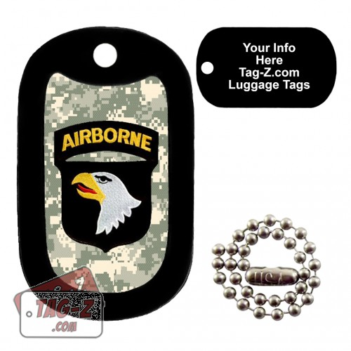 101st  Airborne Division Patch LUGGAGE TAG Tag-Z