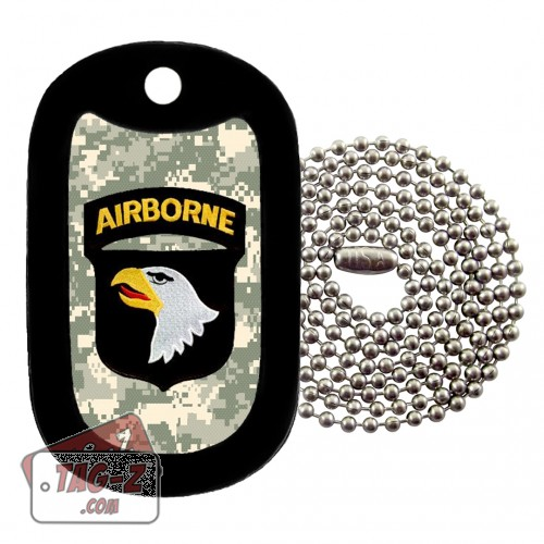 101st  Airborne Division Patch Dog Tag Necklace