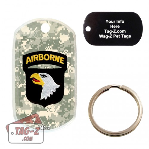 101st  Airborne Division Patch Custom ENGRAVED Pet Tag Tag-Z