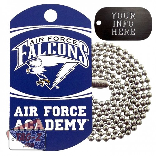 Air Force Academy Falcons NCAA Military Dog Tag Necklace