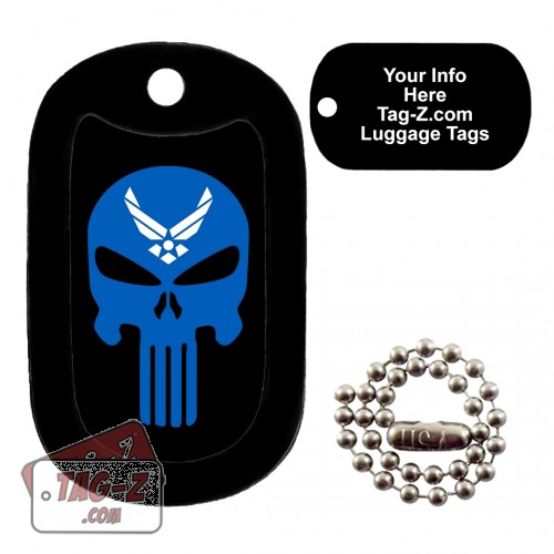 AIR FORCE EVIL SKULL LUGGAGE TAG Tag-Z