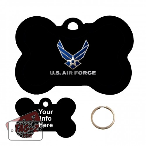 Air Force Bone Shape Pet Tag