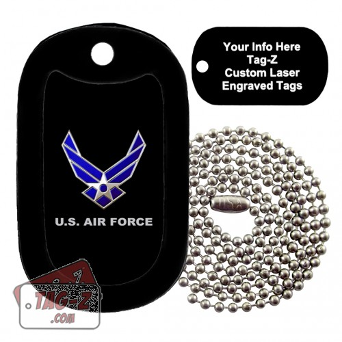 air force Custom ENGRAVED Necklace Tag-Z