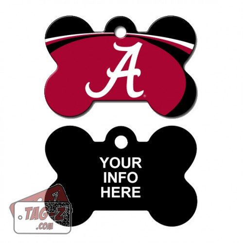 Tag-Z Wag-Z Alabama Crimson Tide NCAA Pet Tag