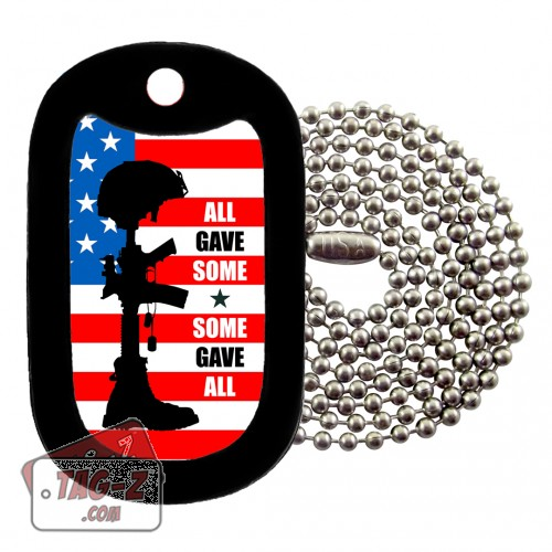 Tag-Z All Gave Some - Some Gave All Dog Tag Necklace