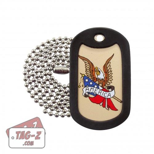 America Eagle Tagtoo-Z Dog Tag Necklace