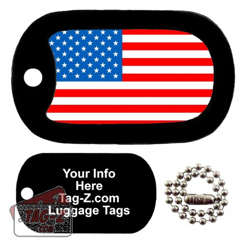 American Flag LUGGAGE TAG Tag-Z