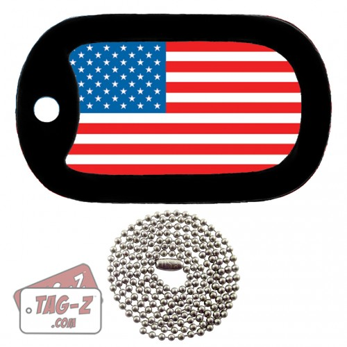Tag-Z American Flag Dog Tag Necklace