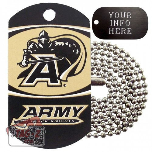 Army Black Knights NCAA Military Dog Tag Necklace