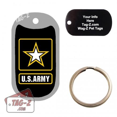 Army Logo Custom ENGRAVED Pet Tag Tag-Z