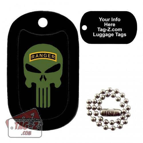 Army Ranger Evil Skull LUGGAGE TAG Tag-Z
