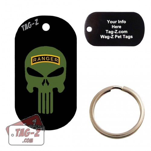 Army Ranger Evil Skull Custom ENGRAVED Pet Tag Tag-Z