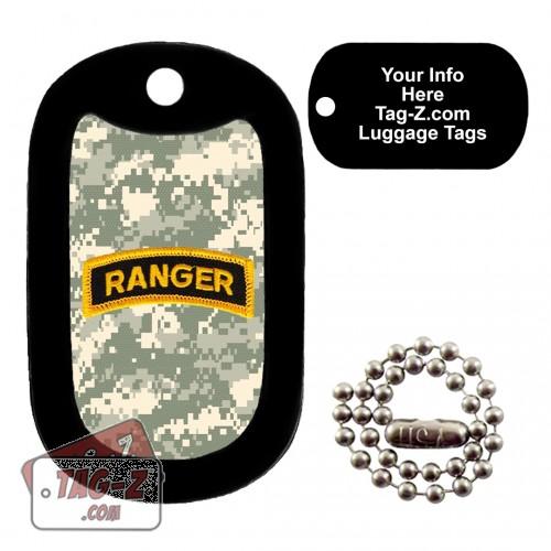 Army Ranger Patch - ACU Camo LUGGAGE TAG Tag-Z