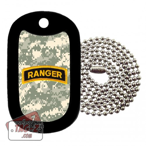 Army Ranger Patch - ACU Camo Dog Tag Necklace