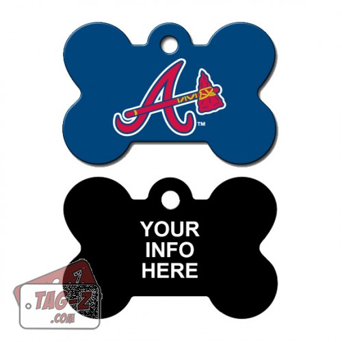Tag-Z Wag-Z Atlanta Braves MLB Pet Tag