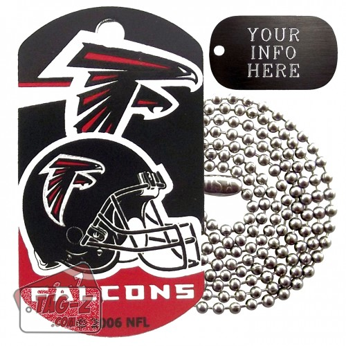 Atlanta Falcons NFL Military Dog Tag Necklace