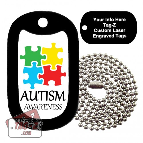 AUTISM AWARENESS Custom ENGRAVED Necklace Tag-Z