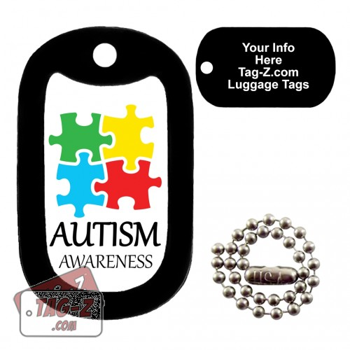 AUTISM AWARENESS LUGGAGE TAG Tag-Z