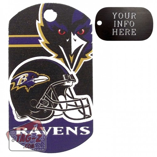 Baltimore Ravens NFL Pet Tag