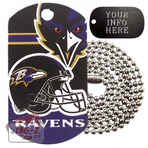 Baltimore Ravens NFL Military Dog Tag Necklace