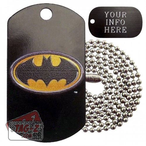 Batman Military Dog Tag Necklace
