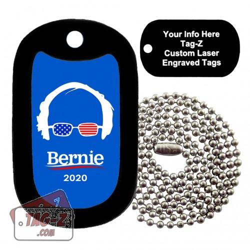 Bernie Sanders Custom ENGRAVED Necklace Tag-Z