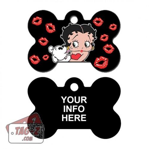 Tag-Z Wag-Z Betty Boop Bone Pet Tag