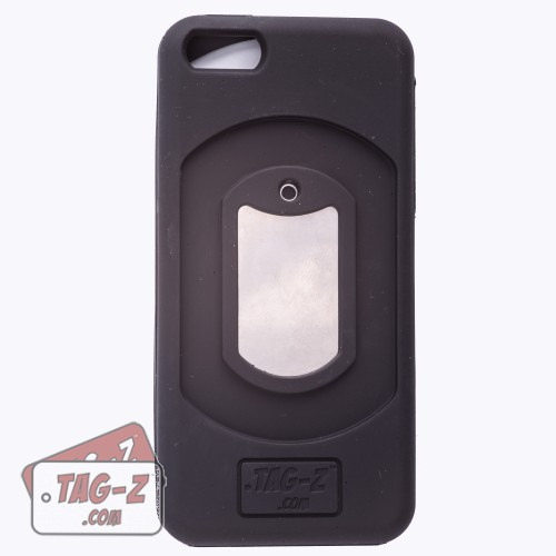 Black iPhone 5 Case with Tag