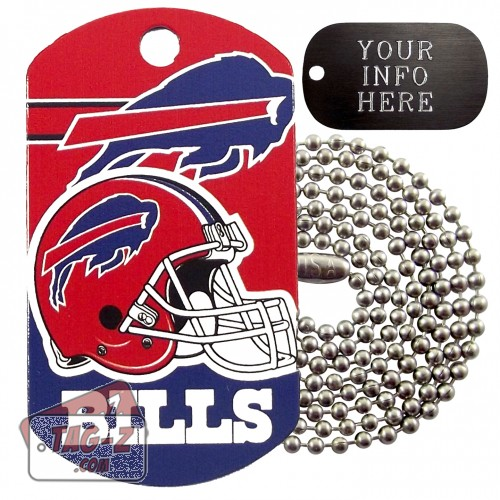 Buffalo Bills NFL Military Dog Tag Necklace