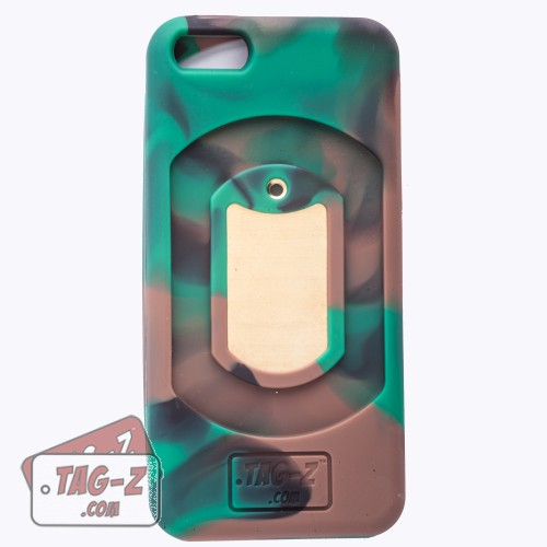 Tag-Z Customized Military Dog Tag iPhone 5 Case - Woodland Camo Cover